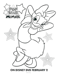 How To Draw Daisy Duck Coloring Daisy Duck Coloring Page Pop Star