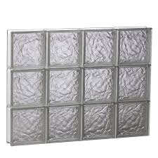 Glass Block Window In Shower shop glass block windows at lowes 8077 by xevi.us