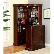 corner bars furniture. perfect furniture furniture of america myron traditional corner home bar in dark cherry on bars