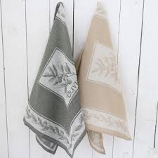 kitchen towel olive green