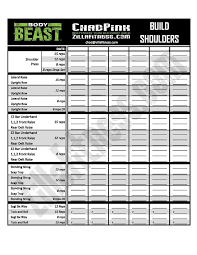 workout sheets beast workout sheet i think its time for a little bit of pain the