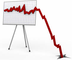 Image result for stock market falling chart
