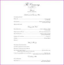 Wedding Ceremony Program Template Free Download Reception Program Template Free Templates Download Wedding