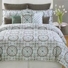 bedding | Bedroom | Pinterest | Gray green, Comforter and Teal & Max Studio 3pc King Duvet Cover Set Moroccan Medallion Aqua Teal Grey White Max  Studio Home Adamdwight.com