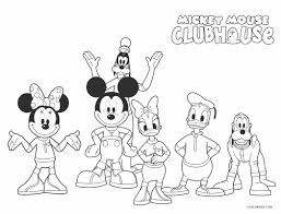Y mouse coloring page for kids and adults from cartoon characters coloring pages, mickey mouse coloring pages. Free Printable Mickey Mouse Clubhouse Coloring Pages For Kids