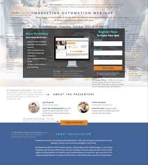 Ad Page Templates Webinar Landing Page Template Salesfusion