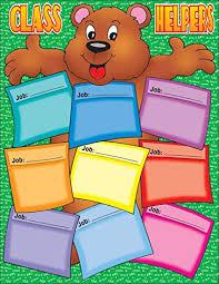 Scholastic Bear Helper Chart Tf2174