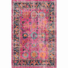 pink rug fresh nuloom vintage persian distressed fl pink rug 8 x 10 pink