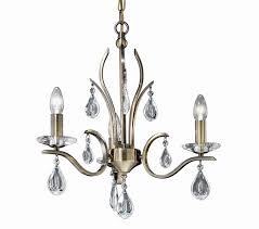 franklite willow 3 light ceiling light antique bronze finish with crystal glass drops fl2299 3