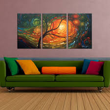 dream of a tree 3 piece gallery wrapped hand painted canvas art on canvas wall art overstock with dream of a tree 3 piece gallery wrapped hand painted canvas art set