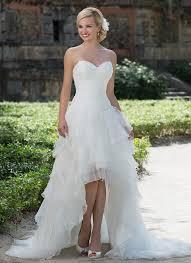 discount sweetheart asymmetrical knee length wedding dresses