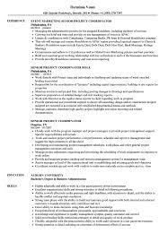 Senior Project Coordinator Resume Samples Velvet Jobs