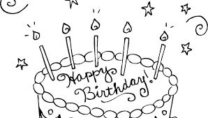 Printable Birthday Cake Birthday Cake Coloring Free Printable