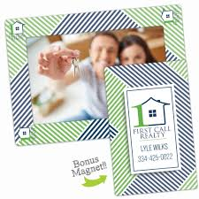 personalized magnetic picture frames realtor gifts