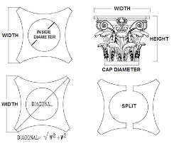 Ami Roman Corinthian Capital Fiberglass Various Sizes