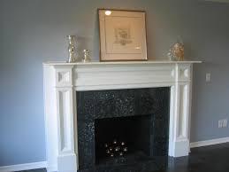 white fireplace mantel surround