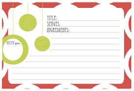 Christmas Recipe Card Free Printable Christmas Recipe Card Shesaved