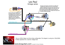 bcs guitars wiring upgrade for gibson les pauls bcs custom guitars vintage lp wiring schematic