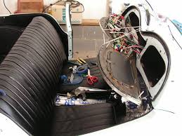 dave plumley s 1953 mg td chevrolet corvette 350 v8 and rear installation of the ez wire wiring harness