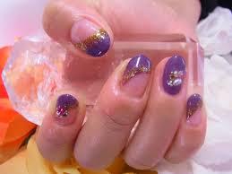 ピンク 紫 ネイル 秋