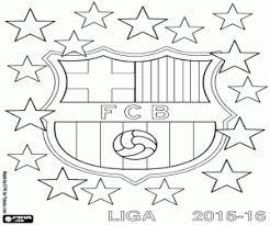 Kleurplaat Fc Barcelona Kampioen 2015 2016 Kleurplaten