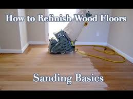 how to sand and refinish a wood floor diy step by step