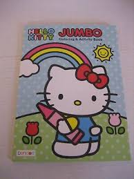 Hello kitty giant coloring pages. Bendon Hello Kitty By Sanrio Jumbo Coloring Activity Book Made In Usa New 805219430156 Ebay