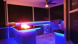 outdoor kitchen lighting. Kitchen Lighting, Blue Led Cabinet Lighting And Ceiling Fan With Light: Choosing The Outdoor