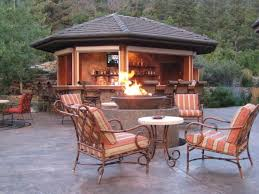 deck patio with fire pit. Exterior Astounding Outdoor Fire Pit Design Ideas Feat Wrought Iron Armchairs Mixed With Wonderful Gazebo Cozy Deck Patio I