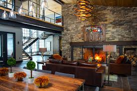 The Living Room Of A Rustic Home With An Industrial Flavour 1240 Industrial Rustic Living Room