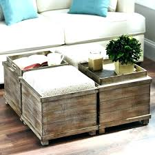 rustic ottoman coffee table x leather round tables upholstered bench contemporary brown cocktail