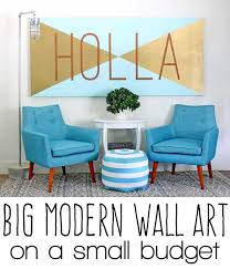 how to make big wall art
