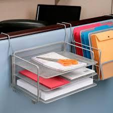 seville classics 6 tray platinum mesh office desk organizer set of 2