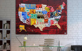 on license plate wall art all 50 states with license plate art and license plate maps by design turnpike