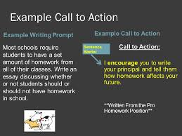 th grade ela this tutorial will focus on iuml the purpose of a example call to action example writing prompt example call to action most schools require students to