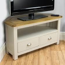 modern corner tv stand. wellington oak corner tv unit / painted stand grey with solid top modern tv