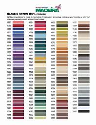 Factual Isacord Thread Conversion Chart Madeira Rayon To