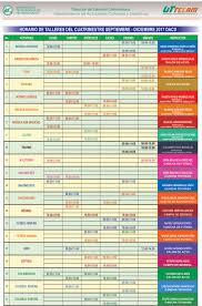 formato de asistencias horario actividades culturales y deportivas uttecam radiouttecam