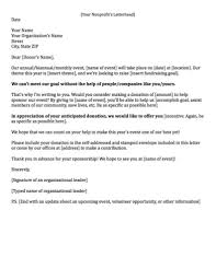 exle of a fundraising letter asking for sponsorship