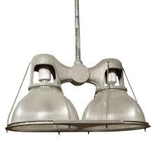 Metal Pendant Lighting Double Holophane Pendant Light For Sale At 1stdibs