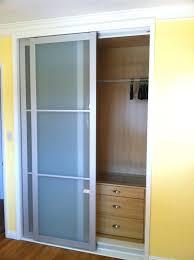 3 panel sliding closet doors full size of mirror as well white glass