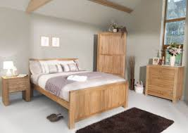 Bedroom Furnished With Solid Oak Furniture And Grey Walls Extraordinary Bedroom Oak Furniture