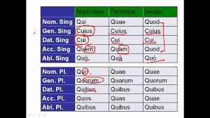 Relative Pronouns In Latin Magister Dominicks Latin Site