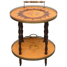 furniture trolley. italian marquetry bar cart or tea trolley by sorrento, 1960s 1 furniture