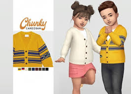 uni toddler chunky cardigan for the sims 4 clothing