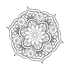 Small Picture Mandala Coloring Online Pages Archives Coloring Page Coloring