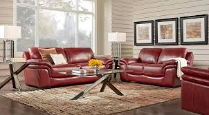 lr rm grandpalazzo red Cindy Crawford Home Grand Palazzo Red Leather 2 Pc Living Room $gallery page 1145$