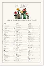 Mason Jar Flowers Wedding Seating Chart Documents And Designs