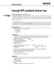 concept xps standard shower tray butech