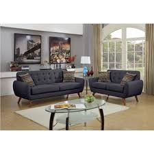 mid century living room furniture. mid century tufted 2piece living room sofa set furniture t